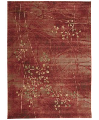 "Nourison Somerset Flame Blossom 3'6"" x 5'6"" Area Rug"