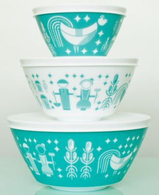 Vintage Charm inspired by Pyrex Rise N Shine 6-Pc. Mixing Bowl Set
