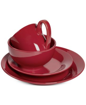 Tabletops Unlimited Corsica Collection 4-Pc. Red Place Setting