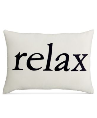 CLOSEOUT! Home Design Studio Relax Pillow, Only at Macy's