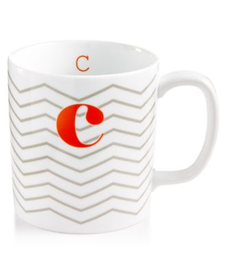 "The Cellar Chevron Initial Mug Collection ""C"" Mug, Only at Macy's"