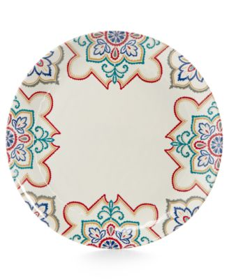 Home Design Studio La Villa Melamine Dinnerware Collection Dinner Plate, Only at Macy's