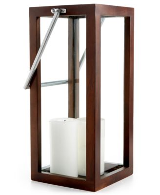 CLOSEOUT! Home Design Studio Oversized Wood Candle Holder Lantern