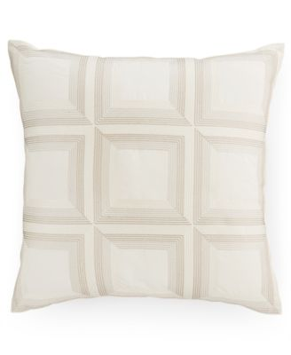 "Hotel Collection Modern Eyelet Embroidered 18"" Square Decorative Pillow, Only at Macy's"