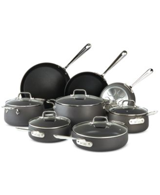 All-Clad Hard-Anodized 13-Pc. Cookware Set, Only at Macy's