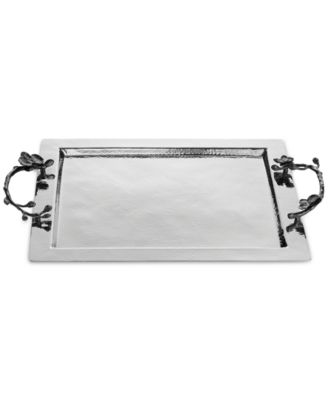 Michael Aram Black Orchid Handled Serving Tray