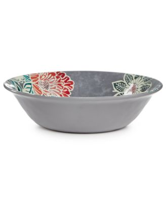 Home Design Studio Floral Melamine Dinnerware Collection Cereal Bowl, Only at Macy's