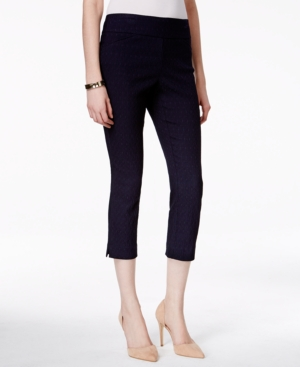 Charter Club Pull-On Jacquard Cambridge Capri Pant Only at Macy's plus size,  plus size fashion plus size appare