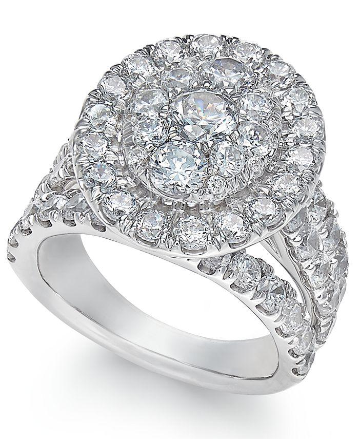 Macy's - Diamond Ring (4 ct. t.w.) in 14k White Gold
