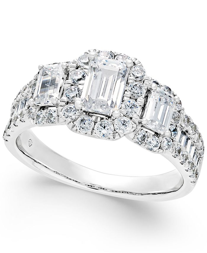 Macy's - Diamond Engagement Ring (2 ct. t.w.) in 14k White Gold