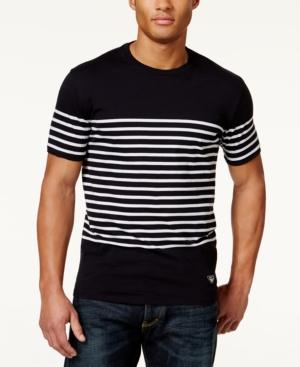 Armani Jeans Mens Sailor Stripe T-Shirt $85.00 AT vintagedancer.com