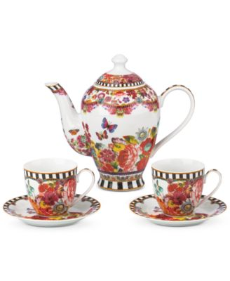 Lenox Melli Mello Eliza Stripe Collection 5-Pc. Tea Set, Exclusively available at Macy's