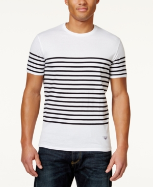 Armani Jeans Mens Sailor Stripe T-Shirt $85.00 AT vintagedancer.com