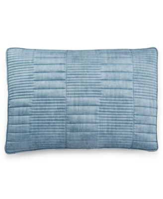 Hotel Collection Colonnade Blue Quilted Standard Sham
