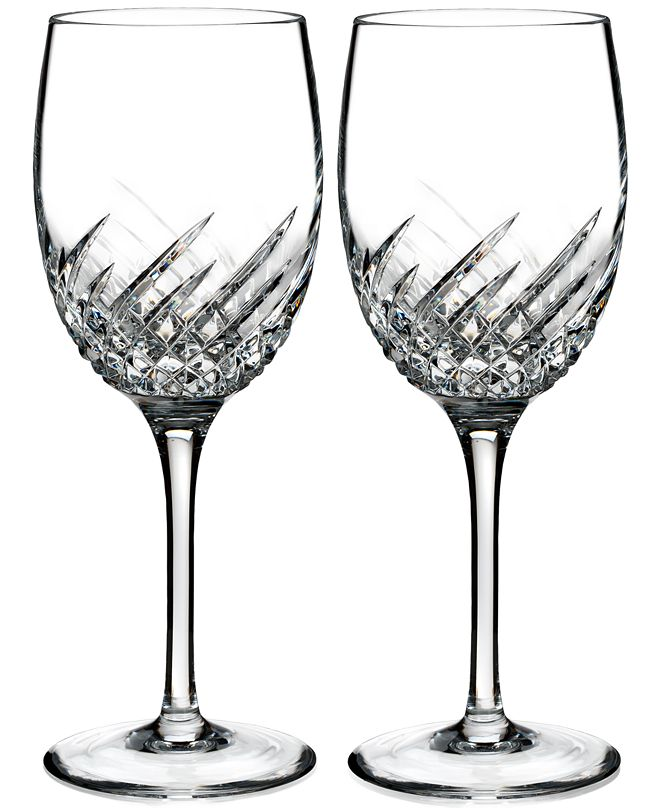 Waterford Essentially Wave Collection Wine Glass Pair