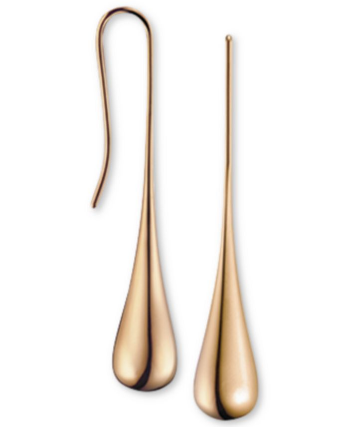 Calvin Klein - ellipse Rose Gold-Tone PVD Stainless Steel Drop Earrings KJ3QPE100100