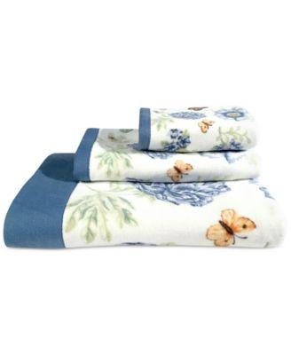 Lenox Blue Floral Garden Bath Towel