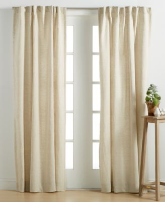 "Hotel Collection Linen Natural 54"" x 84"" Window Panel, Only at Macy's"