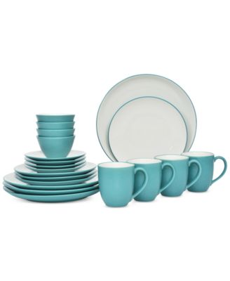 Noritake 20-Pc. Colorwave Turquoise Coupe Dinnerware Set, Service for 4