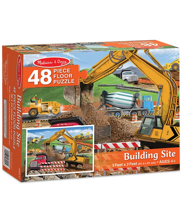 Melissa and Doug - Kids' Building Site 48-Piece Floor Puzzle