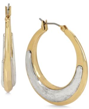 Robert Lee Morris Soho Two-Tone Sculptural Hoop Earrings