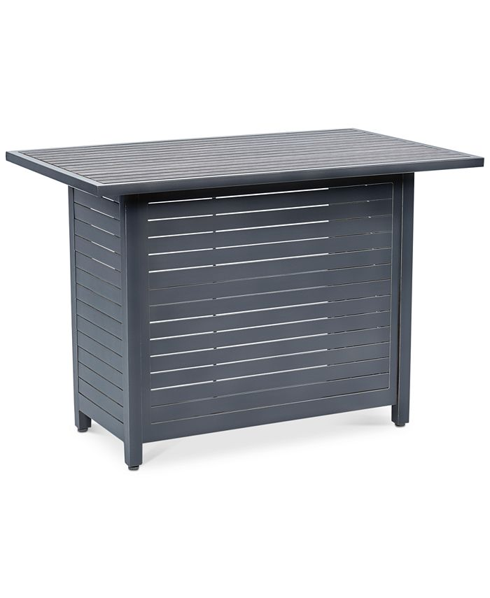 "Furniture - Marlough Aluminum 52"" x 32"" Outdoor Bar Table"