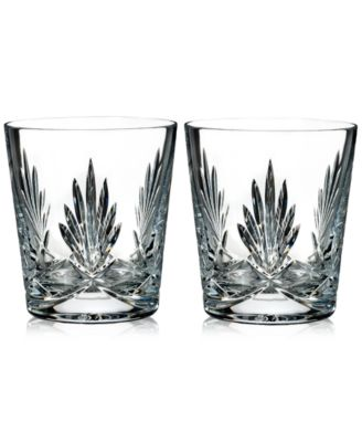 Waterford Paula Collection 2-Pc. Double Old-Fashioned Glasses