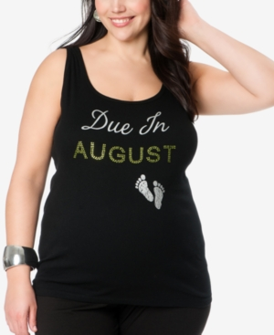 Motherhood Maternity Maternity Plus Size Graphic Tank Top plus size,  plus size fashion plus size appare
