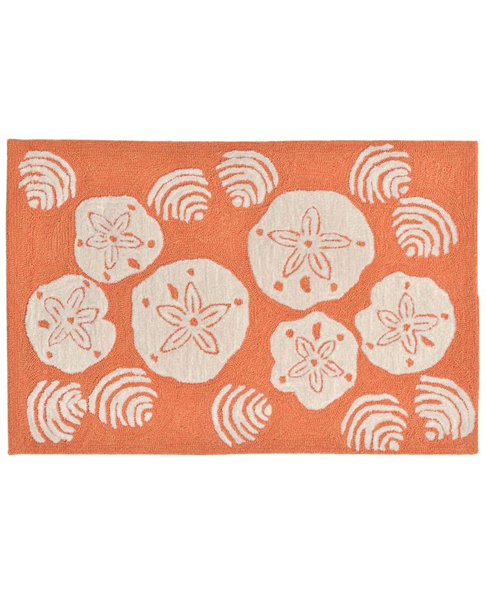 Liora Manne' - Front Porch Indoor/Outdoor Shell Toss Coral 2'6'' x 4' Area Rug