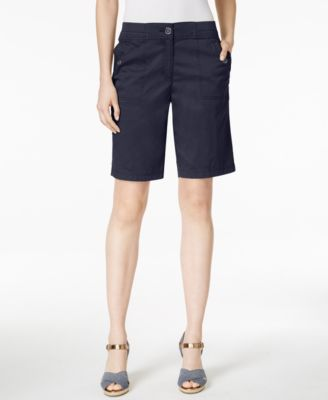 Image of Karen Scott Bermuda Utility Shorts, Only at Macy's