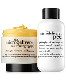 philosophy microdelivery peel 2-piece kit, 2 oz each.