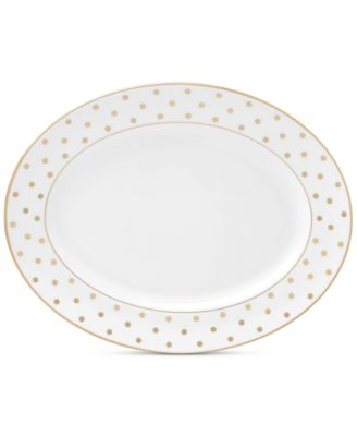 "kate spade new york Larabee Road Gold Collection Bone China 13"" Oval Platter"