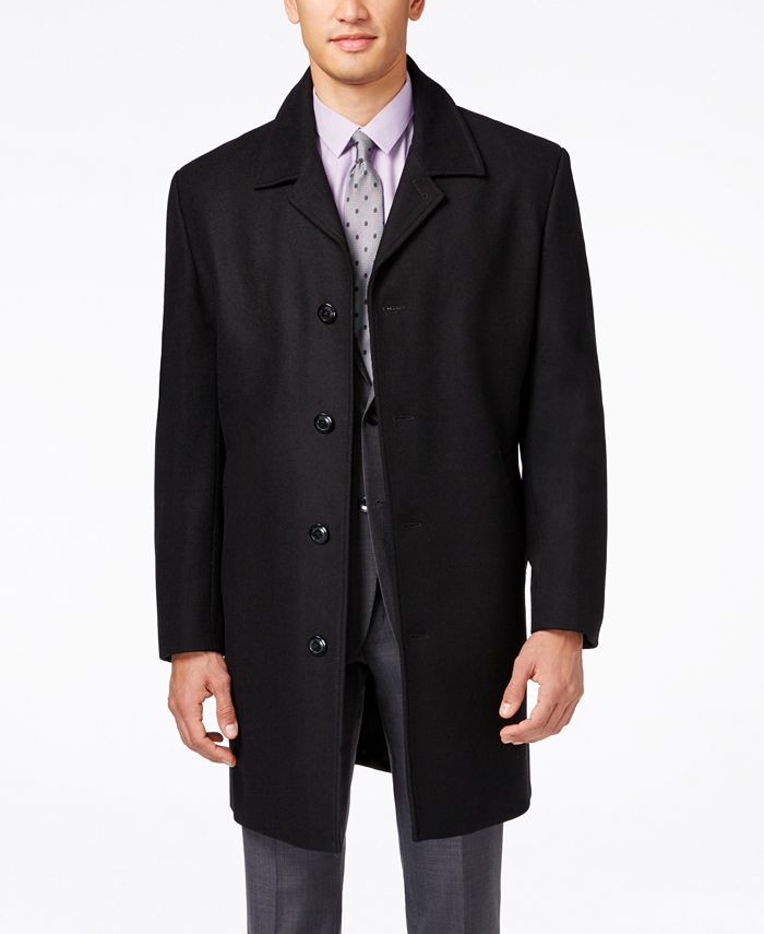 London Fog - Coat, Coventry Wool-Blend Overcoat