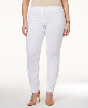 Alfani Plus Size Snakeskin-Print Jacquard Pants, Only at Macy's