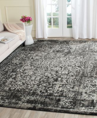Safavieh Evoke EVK256R Black/Grey 4' x 6' Area Rug