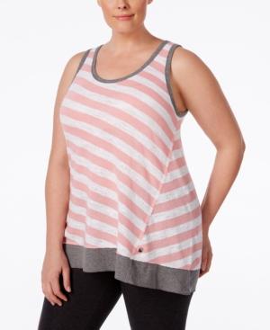 Plus Size Clothing,  Plus Size Womens Clothing Calvin Klein Performance Plus Size Striped Sleeveless Tunic