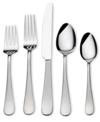 Gourmet Basics by Mikasa 18/0 Stainless Steel 20-Pc. Satin Symmetry Flatware Set, Service for 4