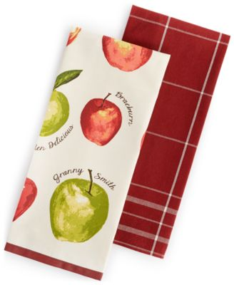 Martha Stewart Collection 2-Pc. Apple Towel Set, Only at Macy's