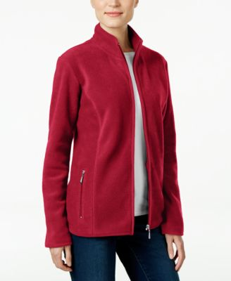 Image of Karen Scott Petite Zeroproof Fleece Jacket, Only at Macy's