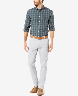1960s Mens Pants, Jeans, Bell Bottoms Dockers Alpha Khaki Slim-Tapered Stretch Pants $49.99 AT vintagedancer.com