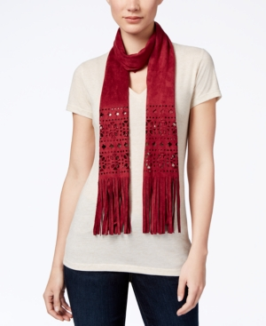 1920s Style Wraps Inc International Concepts Perforated Faux Suede Skinny Scarf Only at Macys $32.50 AT vintagedancer.com