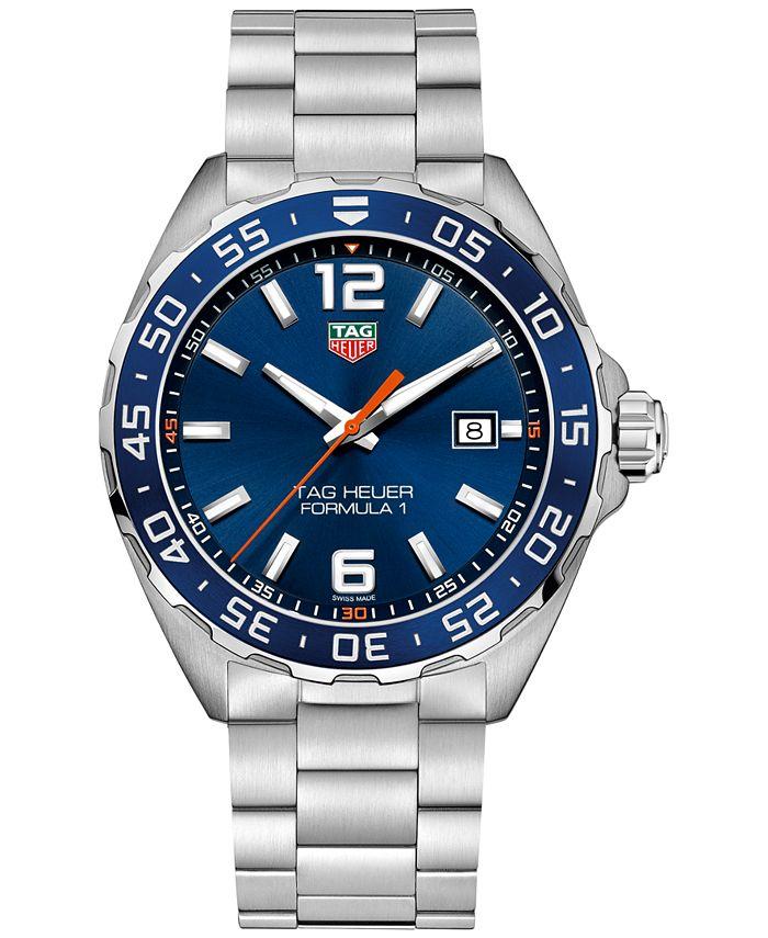 TAG Heuer - Men's Swiss Formula 1 Stainless Steel Bracelet Strap Watch 43mm WAZ1010.BA0842
