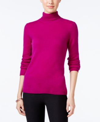 Image of Charter Club Cashmere Turtleneck Sweater, Only at Macy's