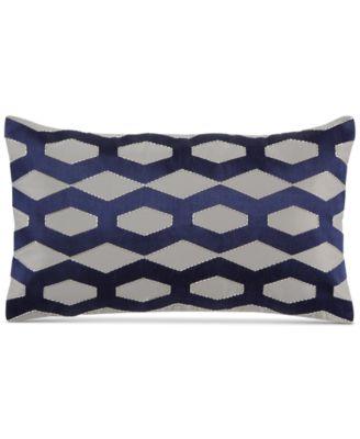 "Hotel Collection Cubist 12"" x 20"" Decorative Pillow"