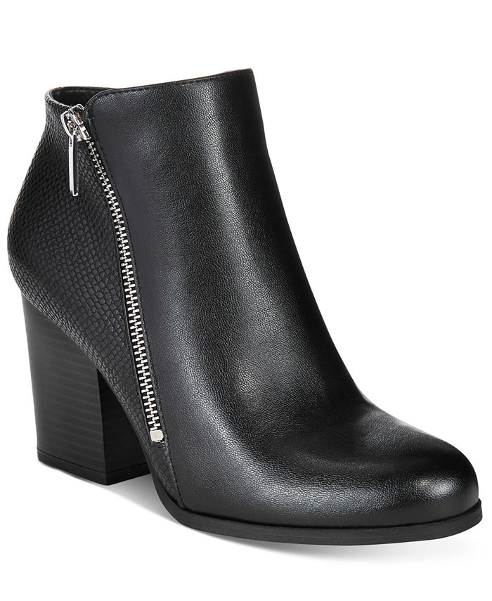 Bar III - Pieta Zipper Block-Heel Booties