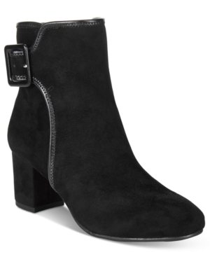 White Mountain Callaway Block-Heel Booties Women's Shoes