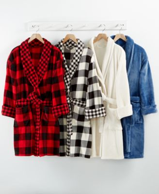 Image of Martha Stewart Collection Plush Robe, Only at Macy's
