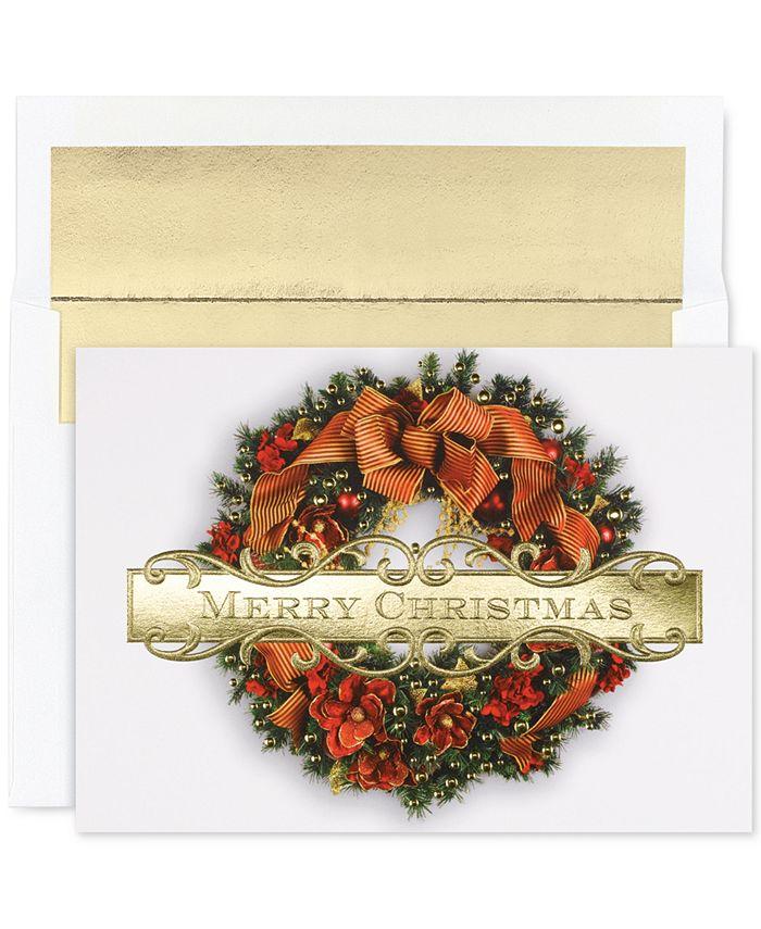 Masterpiece Studios - Christmas Wreath Greeting Cards