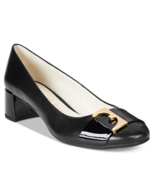 Anne Klein Hastobe Block-Heel Dress Pumps