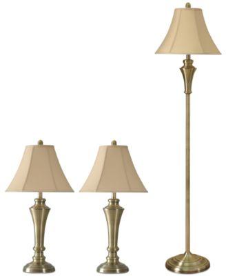 StyleCraft Hamlen Set of 3: 2 Table Lamps and 1 Floor Lamp